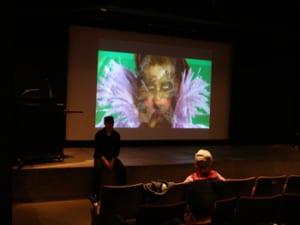 Bradford and Margaret prepare for screening.