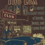 "Katie Gilmartin The Lex Viscosity linocut 8.25 by 12.75"" 2008 (Exhibited at S.F. LGBT Center)"