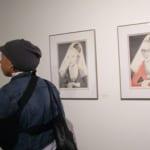 Jackie Francis with Bernice Bing drawings