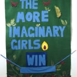 David Fiveash Imaginary Girls (2008) Fabric, felt, oil on canvas collage 4 x 5.5 feet