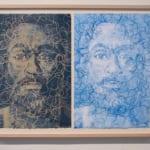 Harold Lohner 30 yards of thread (2009) 2 monoprints 22 x 30.5 inches