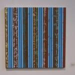 Steven Vasques Lopez Splish Splash Stripes (2007) Acrylic on Panel 24 x 24 inches