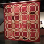 Angie Wilson Traditional Queer Double Wedding Ring Quilt (2009) Garment, fabric, thread 60 x 60 inches