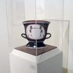 "Michael Pfleghaar No Foul (2008) Terra cotta, underglaze 14 x 15 x 5"""