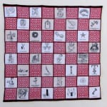 "Jeremy Sanders Alternative Life Handwoven cotton, pigmented ink on cotton 24 x 24"" 2010"