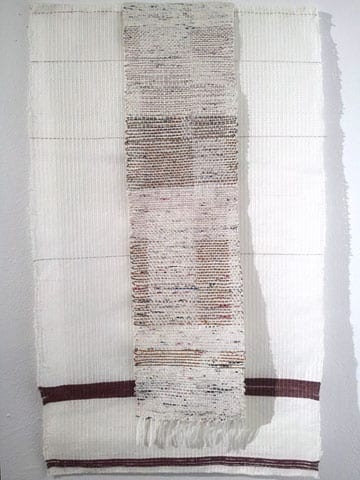Upon Notice of Your Death (Letter A) 2013 Cotton, Hand painted paper, silk, copper.