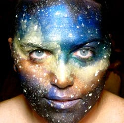 photo of Annie Danger with universe painted on face