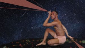 Image of Circus Performer pointing to the stars
