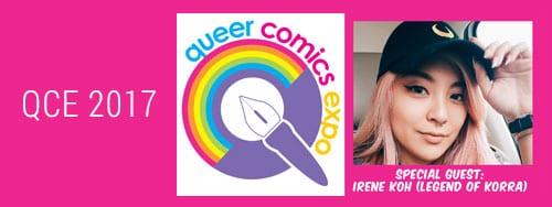 Queer Comics Expo 2017 logo