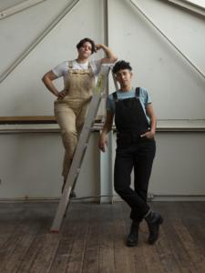 Art Handlxrs* Co-Founders Marcela Pardo Ariza and Kat Trataris, 2020. Image courtesy of AH*
